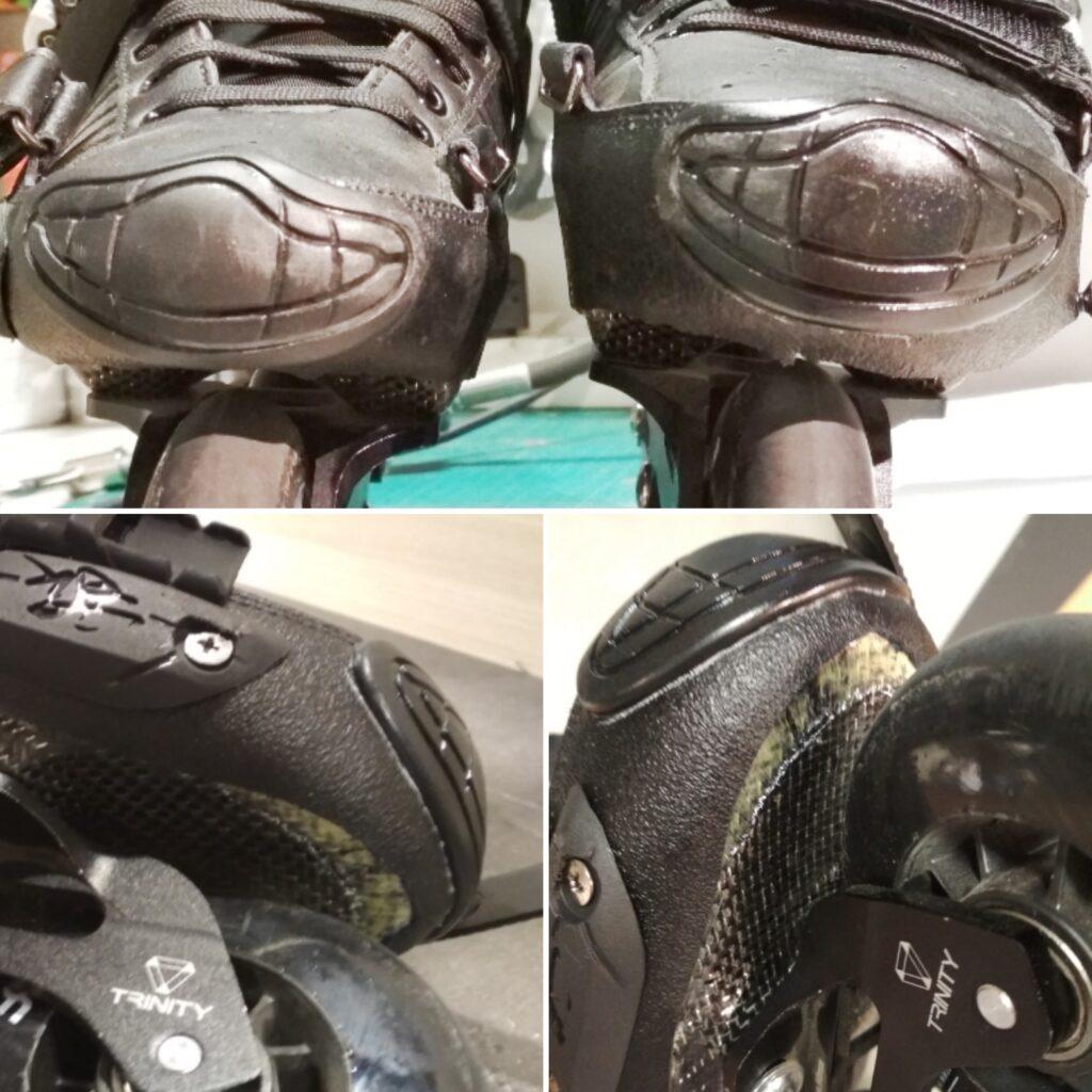 Grafika porównująca odbarczone buty od tradycyjnych